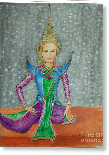 I Am Siamese If You Please -- The Original -- Siamese Dancer Greeting Card by Jayne Somogy