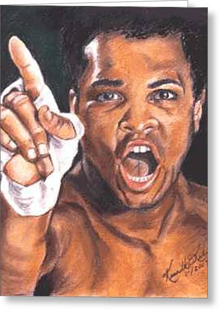 I Am The Greatest - Muhammad Ali Greeting Card by Kenneth Kelsoe