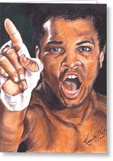 I Am The Greatest - Muhammad Ali Greeting Card by Kenneth Kelsoe