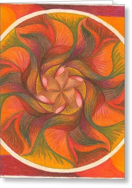 Circle Pastels Greeting Cards - I Am Whole Greeting Card by Ulla Mentzel