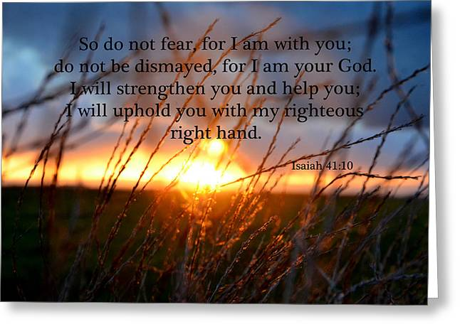I Am Your God Greeting Card by J L
