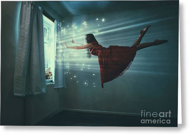 I Believe I Can Fly Greeting Card by Amanda Elwell