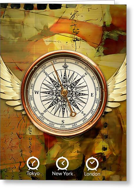Greeting Card featuring the mixed media I Believe I Can Soar by Marvin Blaine