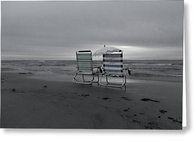 I Brought A Chair For You Greeting Card by Betsy Knapp