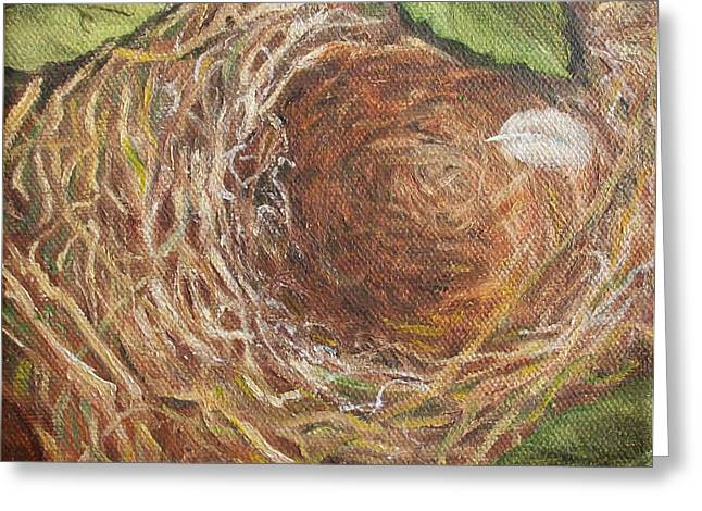I Built You A Nest Greeting Card by Irene Corey