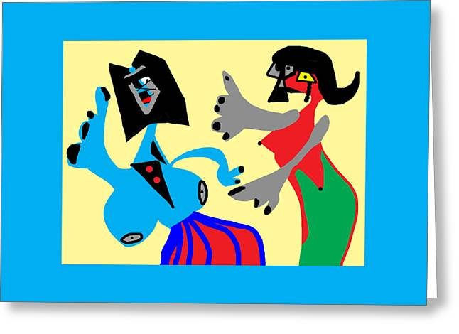 I Can Dance Like Picasso Greeting Card by International Artist Brent Litsey