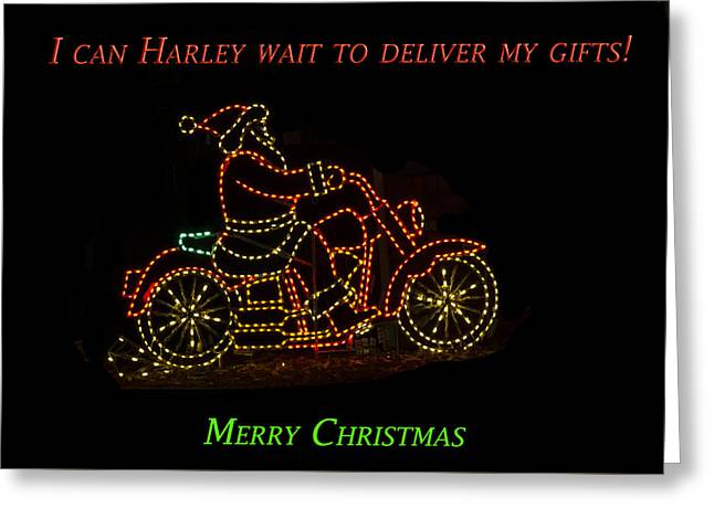 I Can Harley Wait Greeting Card by Jon Berghoff
