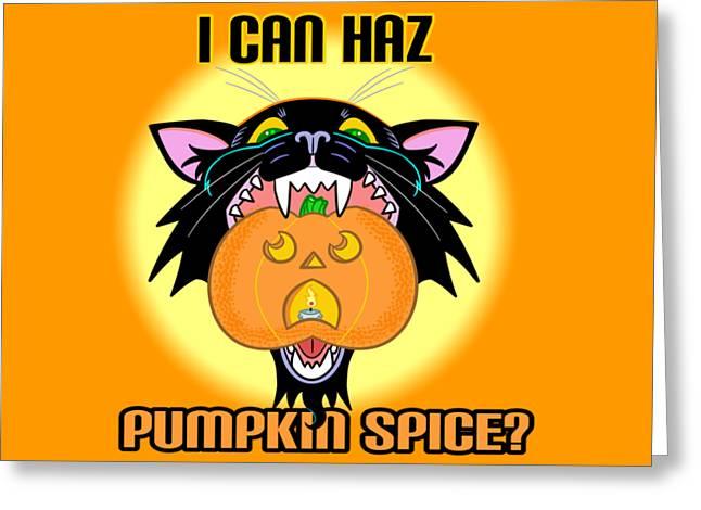 I Can Haz Pumpkin Spice? Greeting Card