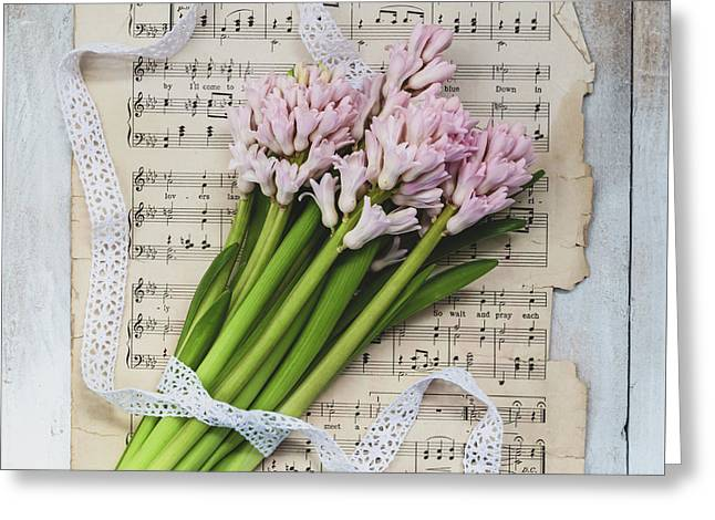 I Can Hear Music Greeting Card by Kim Hojnacki