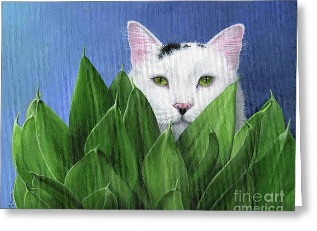 I Can See You, But... Greeting Card by Peggy Dreher