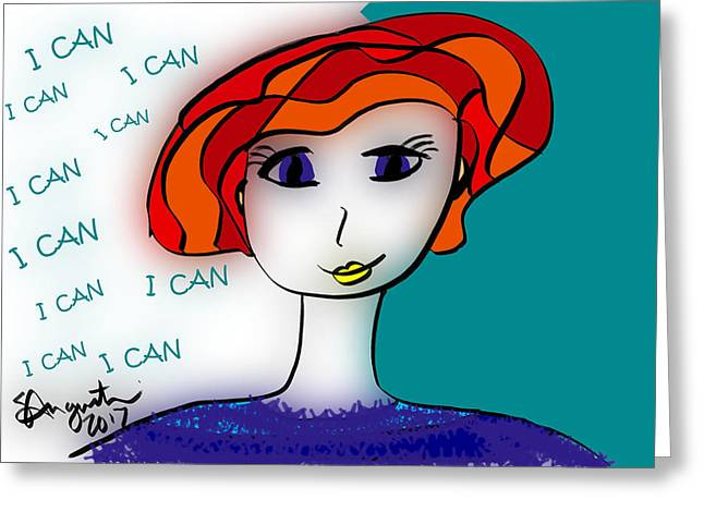 I Can Greeting Card by Sharon Augustin