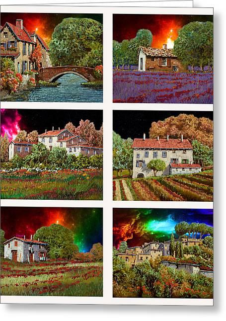 I Colori Del Cielo Greeting Card by Guido Borelli