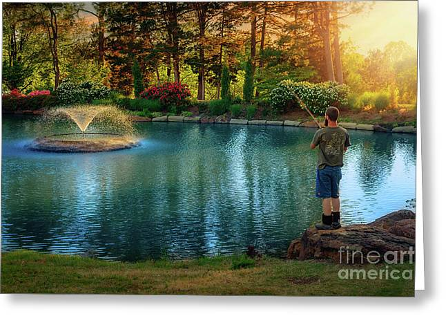 I Could Be Fishing Greeting Card by Tamyra Ayles