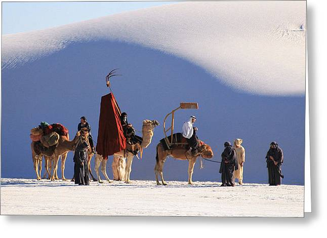 White sands new mexico greeting cards page 10 of 79 fine art i crashed a film location shooting greeting card m4hsunfo
