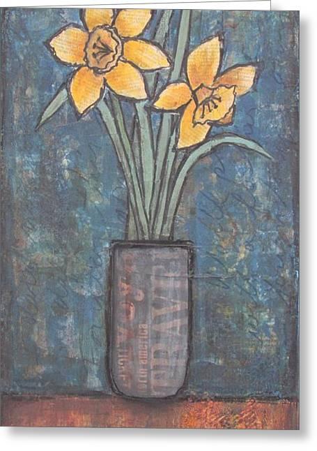 I Dared Not Meet The Daffodils Greeting Card