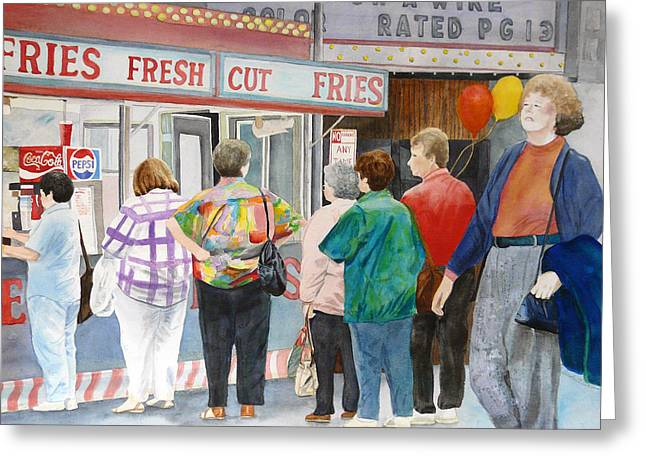French Fries Paintings Greeting Cards - I Dont Need Fries Greeting Card by Carole Overall
