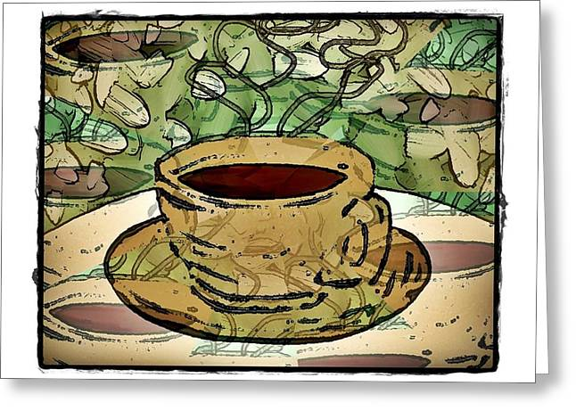 I Dream Of Coffee Greeting Card by Terry Mulligan