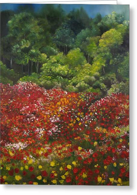 I Dream Of Poppies Greeting Card