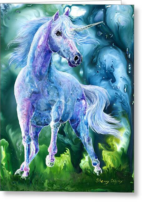 I Dream Of Unicorns Greeting Card