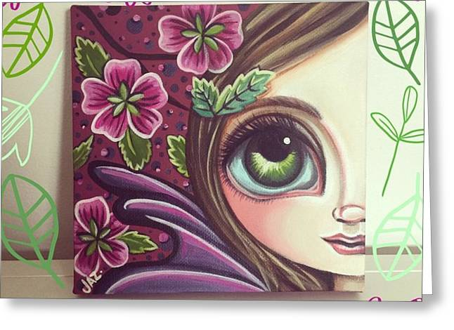 I Finished This Little Fairy This Greeting Card by Jaz Higgins