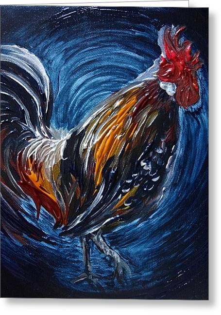 I Gayu Guam Rooster Greeting Card
