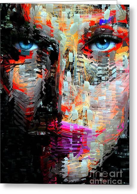 I Got My Eyes On You Greeting Card by Rafael Salazar