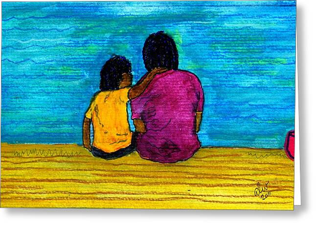 Grief Therapy Greeting Cards - I Got You Greeting Card by Angela L Walker