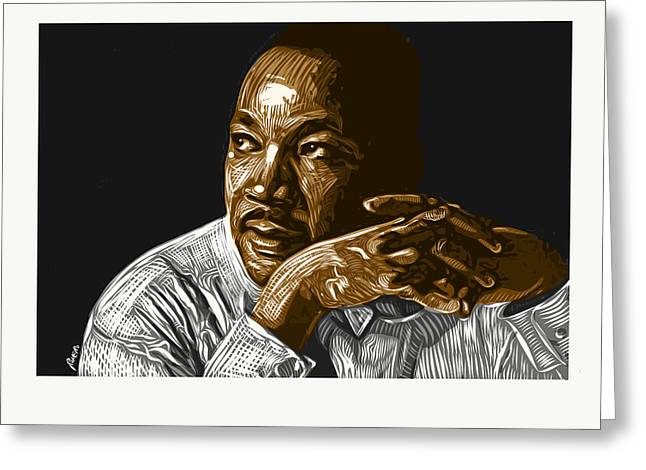 Greeting Card featuring the digital art I Have A Dream . . . by Antonio Romero