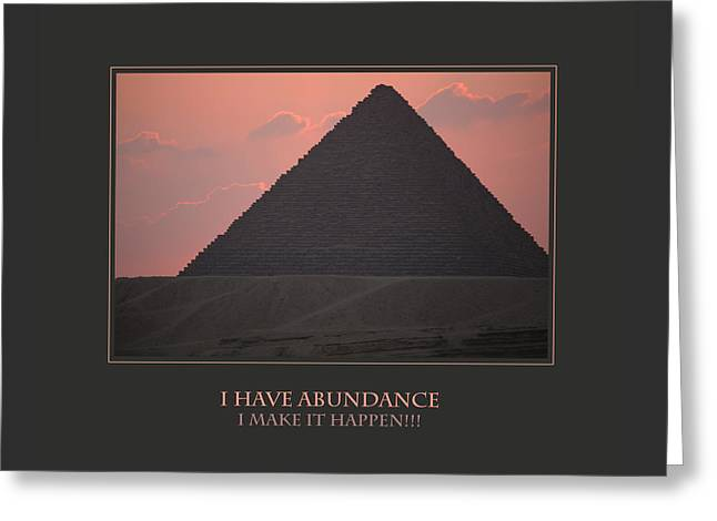 I Have Abundance  I Make It Happen Greeting Card by Donna Corless
