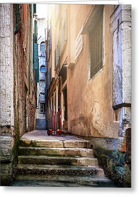 I Have Seen Your Trolley, Somewhere In Venice Greeting Card