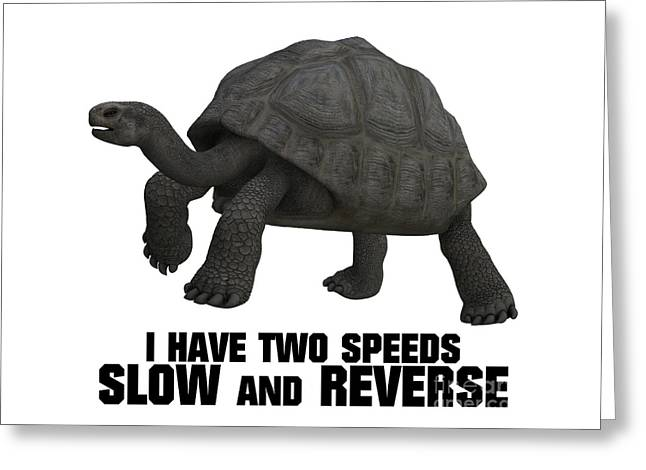 I Have Two Speeds, Slow And Reverse Greeting Card