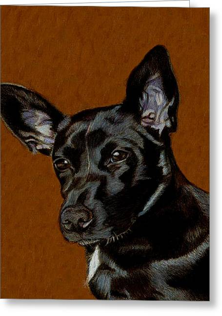 I Hear Ya - Dog Painting Greeting Card