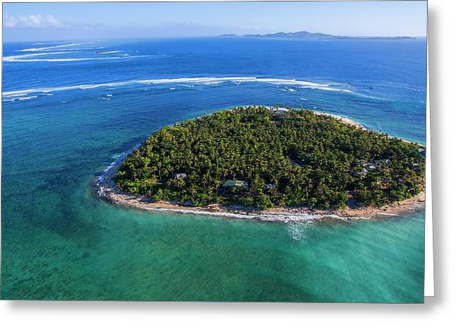 Greeting Card featuring the photograph I Heart Fiji by Brad Scott