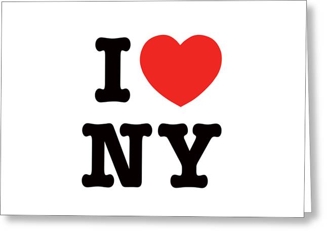 i heart New York Greeting Card