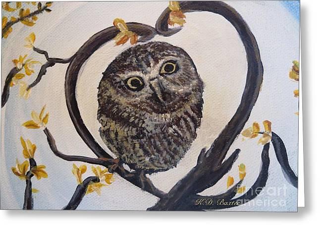 I Heart You Greeting Card by Kimberlee Baxter