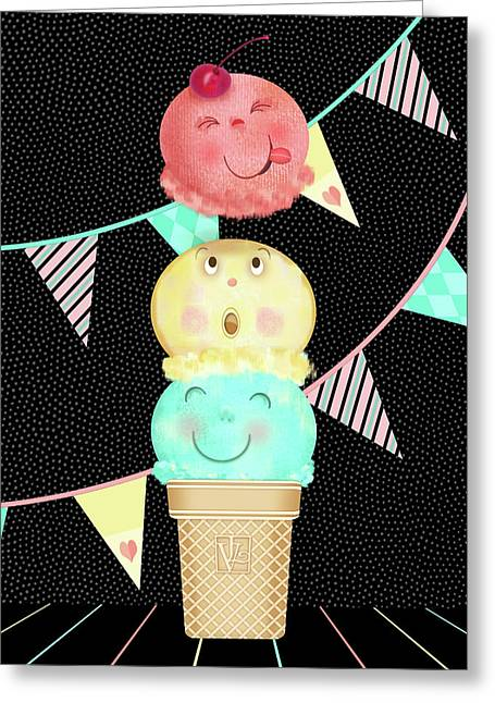 I Is For Ice Cream Cone Greeting Card