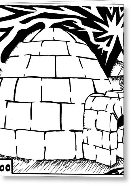 I Is For Igloo Maze Greeting Card by Yonatan Frimer Maze Artist