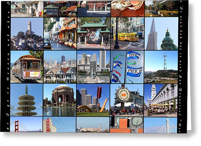 I Left My Heart In San Francisco 20150103 With Text Greeting Card