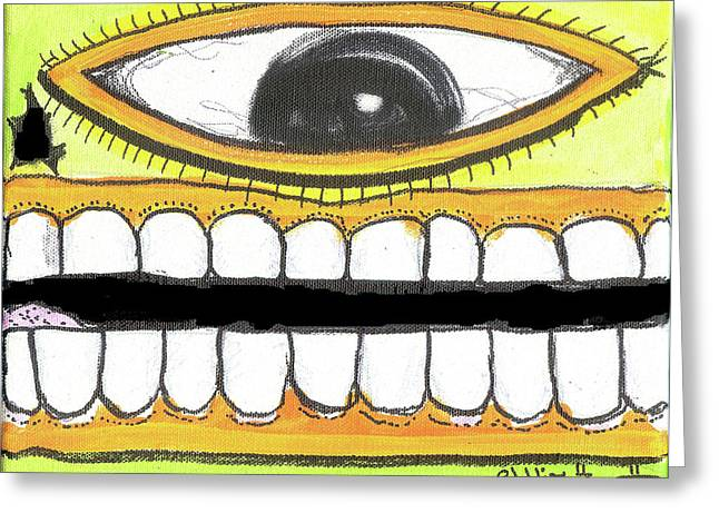 I Like 2 Smile Rs Greeting Card by Robert Wolverton Jr