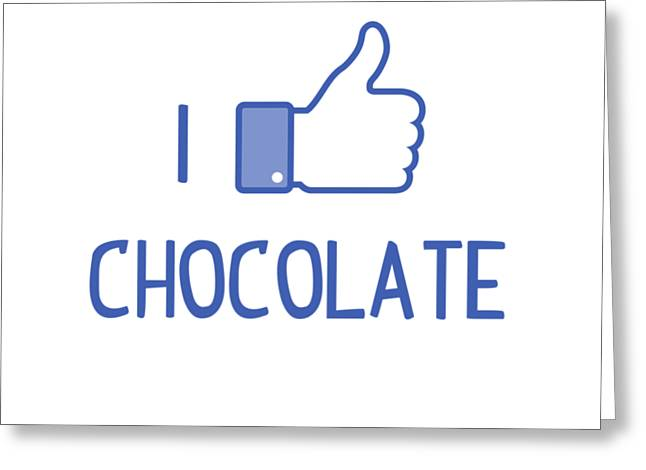 I Like Chocolate Greeting Card by Citronella Design
