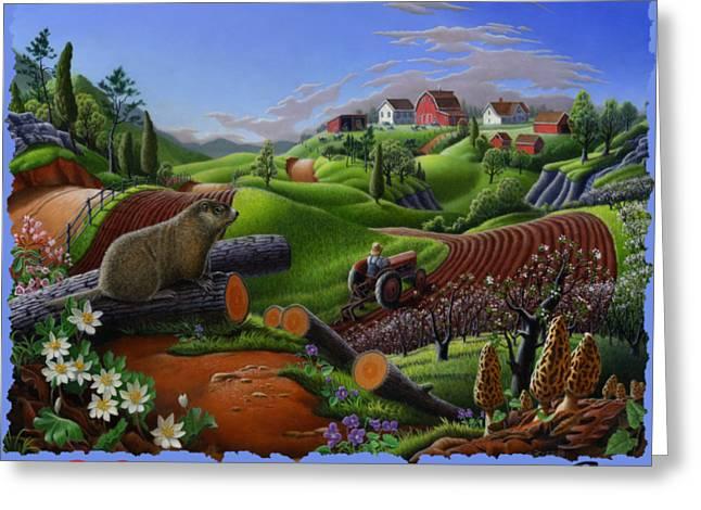 I Love Appalachia - Spring Groundhog Greeting Card