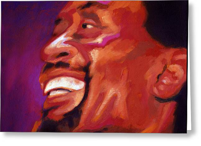Greeting Card featuring the painting I Love Bobby Mcferrin by Angela Treat Lyon