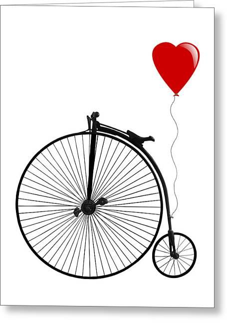I Love Cycling Greeting Card