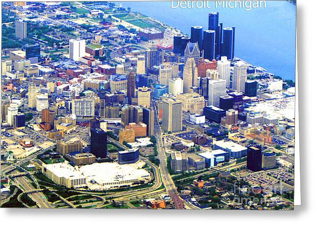 I Love Detroit Greeting Card by Gardening Perfection