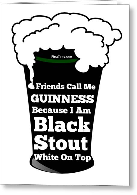 I Love Guinness  Greeting Card