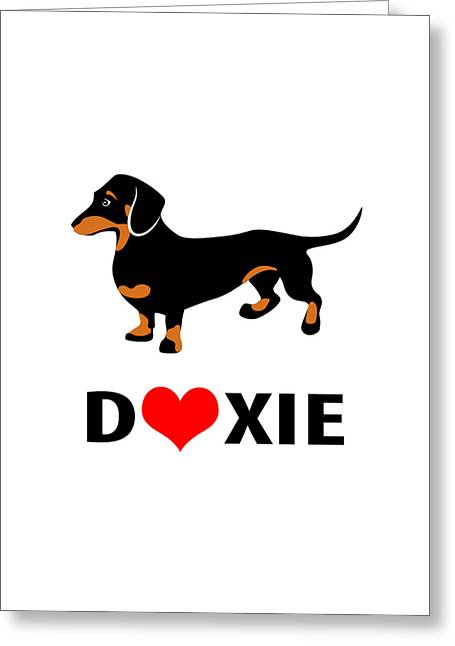 I Love My Doxie Greeting Card