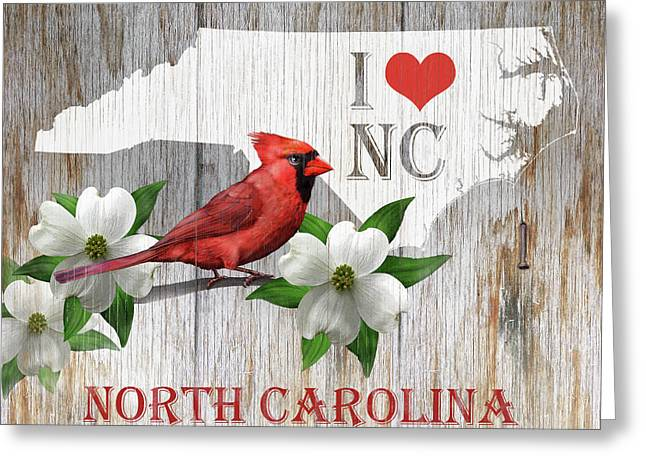 I Love North Carolina Greeting Card by Stan Coffman