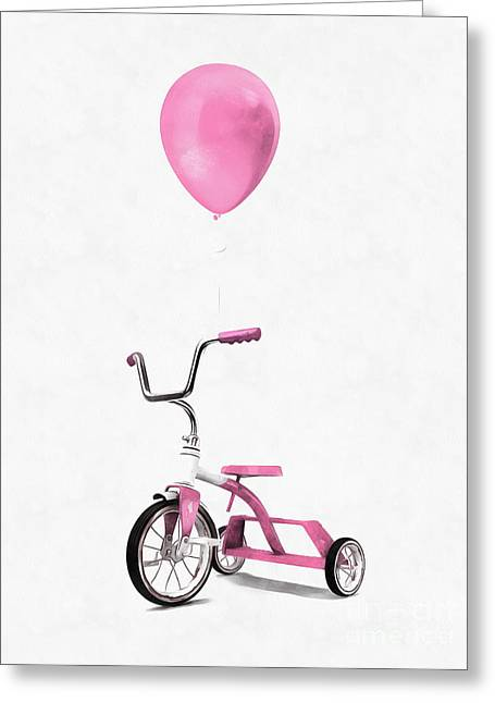 I Love Pink Greeting Card