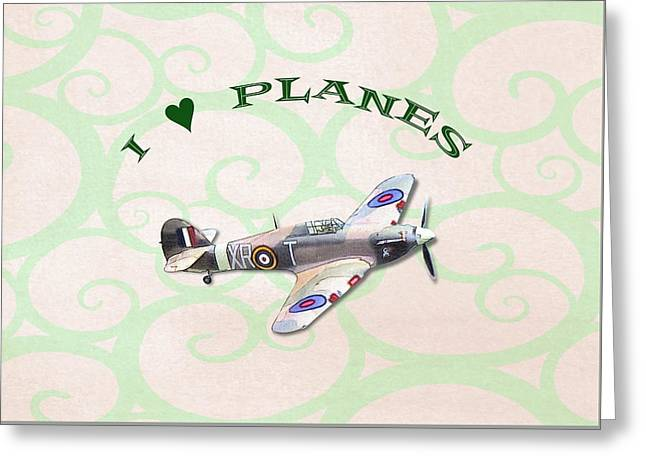 I Love Planes - Hurricane Greeting Card