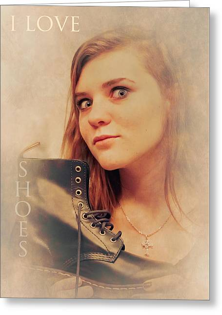 I Love Shoes Greeting Card by Loriental Photography